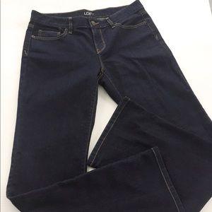 LOFT Original Bootcut Dark Wash Blue Jeans 8